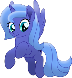 Size: 7173x7729 | Tagged: safe, artist:thatusualguy06, princess luna, alicorn, pony, .svg available, absurd resolution, cute, female, flying, lunabetes, mare, movie accurate, s1 luna, show accurate, simple background, solo, transparent background, vector