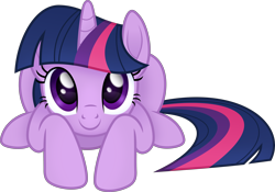Size: 6000x4201   Tagged: safe, artist:negatif22, part of a set, twilight sparkle, pony, unicorn, cute, female, imminent pounce, looking at you, lying down, mare, prone, simple background, solo, transparent background, twiabetes, vector