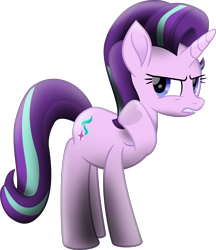 Size: 7750x8989   Tagged: safe, artist:lincolnbrewsterfan, derpibooru exclusive, starlight glimmer, pony, unicorn, my little pony: the movie, the crystalling, .svg available, absurd resolution, angry, female, frog (hoof), gritted teeth, heart, heart hoof, inkscape, looking at you, mare, movie accurate, moviefied, purple mane, raised hoof, serious, serious face, shading, show moviefied, simple background, svg, talk to the hand, transparent background, underhoof, vector, waving