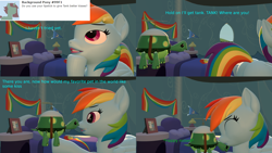 Size: 3840x2160 | Tagged: safe, artist:sexy rd, rainbow dash, tank, pegasus, tortoise, series:ask sexy rainbow dash, 3d, alternate universe, answer, ask, butt, comic, female, happy, kiss on the head, kissing, large butt, lipstick, mare, misspelling, plot, rainbow dash's bedroom, rainbow dash's house, rainbutt dash, revamped ponies, room, source filmmaker