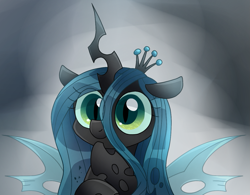 Size: 1293x1010 | Tagged: safe, artist:namaenonaipony, queen chrysalis, changeling, changeling queen, cute, cutealis, female, looking at you, solo