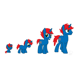 Size: 900x900 | Tagged: safe, artist:ry-bluepony1, oc, oc only, oc:train track, pony, unicorn, adult, baby, baby pony, base used, colt, evolution, foal, male, show accurate, solo, stallion, teenager