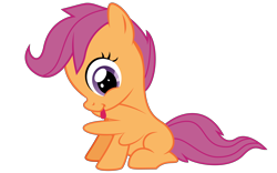 Size: 8000x5000   Tagged: safe, artist:favitwink, scootaloo, .svg available, 4k, 60 fps, animated, blank flank, commission, cute, cutealoo, female, filly, foal, grooming, happy, licking, loop, perfect loop, preening, rainmeter, simple background, sitting, smiling, solo, spread wings, svg, sweet dreams fuel, tail wag, tongue out, transparent background, vector, wings, ych animation, ych example, your character here