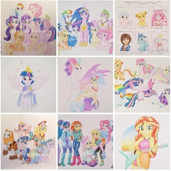 Size: 891x891 | Tagged: safe, artist:mmy_little_drawings, applejack, cozy glow, flash magnus, fluttershy, meadowbrook, mistmane, pinkie pie, princess ember, princess skystar, queen novo, rainbow dash, rarity, rockhoof, sci-twi, somnambula, spike, star swirl the bearded, sunset shimmer, twilight sparkle, alicorn, dragon, earth pony, elephant, human, pegasus, pony, reindeer, seapony (g4), unicorn, equestria girls, equestria girls series, holidays unwrapped, my little pony: the movie, rainbow rocks, the last problem, spoiler:eqg series (season 2), :d, antlers, beanie, big hero 6, boots, bracelet, clothes, cltohes, colored pencil drawing, colored wings, coronation dress, crossed arms, crossover, crown, cure happy, dragoness, dress, dumbo, duo, earmuffs, eyelashes, female, filly, flying, freckles, gigachad spike, glasses, glitter force, glitter lucky, grin, guitar, hat, helmet, hiro hamada, hoof hold, hoof shoes, horn, humane five, humane seven, humane six, jewelry, kneeling, looking at each other, male, mane seven, mane six, mare, mask, medal, multicolored wings, musical instrument, necklace, obtrusive watermark, older, older applejack, older fluttershy, older mane seven, older mane six, older pinkie pie, older rainbow dash, older rarity, older spike, older twilight, one eye closed, open mouth, peytral, piggyback ride, pillars of equestria, princess twilight 2.0, rainbow power, rainbow power-ified, rainbow wings, raised hoof, regalia, second coronation dress, shoes, simba, simple background, six fanarts, skirt, sleeveless, smile precure, smiling, spread wings, stallion, the lion king, tiara, traditional art, twilight sparkle (alicorn), two toned wings, underhoof, unshorn fetlocks, watermark, white background, winged spike, wings, wink, winter outfit