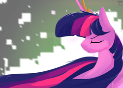 Size: 4200x3000 | Tagged: safe, artist:therealf1rebird, twilight sparkle, alicorn, pony, the last problem, crown, ethereal mane, female, flowing mane, horn, jewelry, long mane, mare, older, older twilight, princess twilight 2.0, regalia, solo, twilight sparkle (alicorn), wings