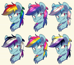 Size: 5272x4664   Tagged: safe, artist:chub-wub, rainbow dash, pegasus, pony, absurd resolution, asexual pride flag, bisexual pride flag, chest fluff, fangs, female, mare, nonbinary, nonbinary pride flag, pansexual pride flag, pride, pride flag, simple background, solo, trans female, transgender, transgender pride flag, white background