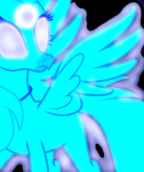 Size: 2386x2845 | Tagged: safe, artist:frownfactory, artist:mellow91, edit, silverstream, oc, oc:luminoso, classical hippogriff, hippogriff, school daze, absurd resolution, black background, glowing eyes, possessed, simple background, vector