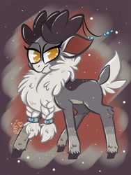 Size: 900x1200 | Tagged: safe, artist:toxiccoswynaut, velvet reindeer, them's fightin' herds, alternate color palette, community related