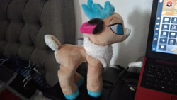 Size: 2048x1152 | Tagged: safe, velvet reindeer, them's fightin' herds, community related, photo, plushie