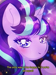 Size: 453x604 | Tagged: safe, artist:pierogarts, starlight glimmer, unicorn, bust, looking at you, portrait, solo