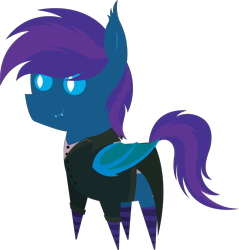 Size: 5795x6073 | Tagged: safe, artist:tikibat, derpibooru exclusive, oc, oc only, oc:stardust, oc:stardust(cosmiceclipse), bat pony, pony, absurd resolution, bat pony oc, bat wings, butler, clothes, disneyland, ear fluff, fangs, haunted mansion, male, membranous wings, pointy ponies, simple background, slit eyes, slit pupils, socks, solo, stallion, striped socks, suit, transparent background, wings
