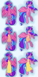 Size: 3627x7327   Tagged: safe, artist:chelseawest, part of a set, oc, oc only, oc:melody aurora, alicorn, alicorn oc, body pillow, body pillow design, clothes, cute, dress, female, heart eyes, horn, lingerie, looking at you, lying, lying down, ocbetes, offspring, older, parent:flash sentry, parent:twilight sparkle, parents:flashlight, part of a series, solo, wingding eyes, wings