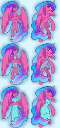 Size: 3352x7187 | Tagged: safe, artist:chelseawest, part of a set, oc, oc only, oc:melody aurora, alicorn, alicorn oc, body pillow, body pillow design, clothes, cute, dress, female, flowing hair, flowing mane, flowing tail, heart eyes, horn, lingerie, looking at you, lying, lying down, ocbetes, offspring, older, parent:flash sentry, parent:twilight sparkle, parents:flashlight, part of a series, solo, wingding eyes, wings