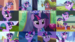 Size: 1280x720   Tagged: safe, edit, edited screencap, editor:quoterific, screencap, beaude mane, joan pommelway, twilight sparkle, alicorn, earth pony, pony, unicorn, a canterlot wedding, bats!, boast busters, dragonshy, friendship is magic, games ponies play, no second prances, once upon a zeppelin, shadow play, the crystal empire, the cutie mark chronicles, the saddle row review, twilight's kingdom, airship, blushing, cute, female, golden oaks library, grin, magic, male, mare, night, open mouth, smiling, stallion, telekinesis, twiabetes, twilight sparkle (alicorn), unicorn twilight, zeppelin