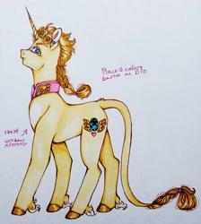 Size: 2619x2927 | Tagged: safe, artist:theartoffallensakura, classical unicorn, pony, unicorn, cloven hooves, giorno giovanna, jojo's bizarre adventure, leonine tail, ponified, solo, unshorn fetlocks