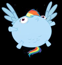 Size: 1163x1221 | Tagged: safe, rainbow dash, balloon, rainblimp dash, vector