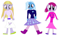 Size: 1280x757 | Tagged: safe, artist:therealartydancer, fuchsia blush, lavender lace, trixie, equestria girls, trixie and the illusions