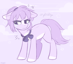 Size: 813x718 | Tagged: safe, artist:higgly-chan, oc, earth pony, pony, crying, earth pony oc, solo