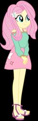 Size: 1024x3200   Tagged: safe, artist:bidzinha, artist:emeraldblast63, fluttershy, equestria girls, alternate hairstyle, college, feet, older, older fluttershy, sandals, solo, university