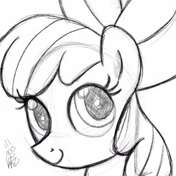 Size: 2048x2048   Tagged: artist needed, safe, apple bloom, earth pony, pony, female, filly, high res, sketch, solo