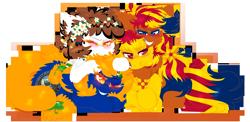 Size: 2192x1072   Tagged: safe, artist:vanillaswirl6, oc, oc only, oc:arizona, oc:nevada, oc:new mexico, oc:utah, pony, one eye closed, simple background, transparent background, vanillaswirl6's state ponies