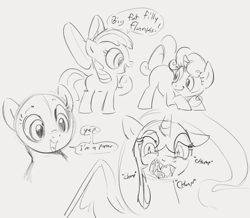 Size: 855x747 | Tagged: safe, artist:dotkwa, apple bloom, nightmare moon, sweetie belle, sketch