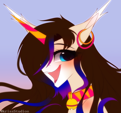 Size: 3022x2800 | Tagged: safe, artist:krissstudios, oc, oc:axel, pony, unicorn, bust, female, mare, portrait, solo