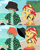 Size: 4197x5272 | Tagged: safe, artist:floonasif, sunset shimmer, oc, oc:ruby sword, equestria girls, abs, bare shoulders, beach, bikini, bikini top, canon x oc, clothes, female, glare, grumpy, hat, hatless, male, missing accessory, shipping, show accurate, sleeveless, straight, sunsword, swimsuit