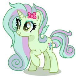 Size: 920x936 | Tagged: safe, artist:venomous-cookietwt, oc, pony, unicorn, female, magical lesbian spawn, mare, offspring, parent:bon bon, parent:lyra heartstrings, parents:lyrabon, simple background, solo, transparent background