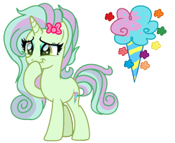 Size: 1192x976   Tagged: safe, artist:venomous-cookietwt, oc, pony, unicorn, female, magical lesbian spawn, mare, offspring, parent:bon bon, parent:lyra heartstrings, parents:lyrabon, simple background, solo, transparent background