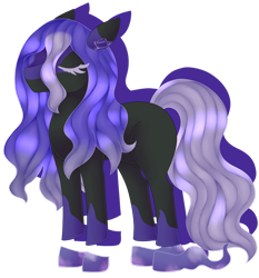 Size: 1920x2056   Tagged: safe, artist:spokenmind93, oc, ghost, shadow pony, undead, eyes closed, long mane, long tail, pokémon, ponymon, solo, spectrier