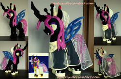 Size: 3030x1979 | Tagged: safe, artist:agatrix, oc, oc:nymphea, changeling, female, irl, photo, plushie, solo