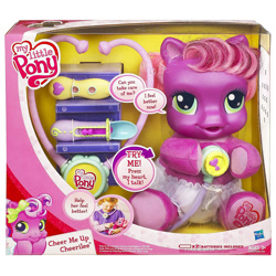 Size: 1000x1000 | Tagged: safe, cheerilee (g3), earth pony, pony, g3.5, baby, baby pony, female, filly, foal, so soft, solo, toy