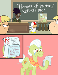 Size: 2806x3625 | Tagged: safe, artist:cartuneslover16, granny smith, earth pony, human, pony, crossover, crying, high res, kick buttowski, tears of joy