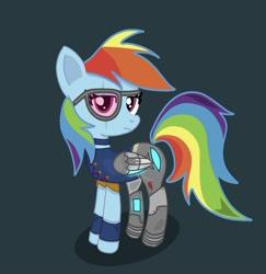 Size: 1368x1407 | Tagged: safe, rainbow dash, cyborg, clothes