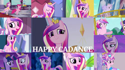 Size: 1280x721 | Tagged: safe, edit, edited screencap, editor:quoterific, screencap, pinkie pie, princess cadance, twilight sparkle, alicorn, crystal pony, earth pony, pony, unicorn, a canterlot wedding, a flurry of emotions, equestria games (episode), equestria girls, equestria girls (movie), games ponies play, once upon a zeppelin, season 2, season 3, season 4, season 6, season 7, the crystal empire, the crystalling, three's a crowd, twilight's kingdom, ^^, crown, cute, cutedance, diapinkes, eyes closed, female, filly, filly cadance, filly twilight sparkle, jewelry, magic, mare, night, open mouth, regalia, sisters-in-law, smiling, telekinesis, twiabetes, twilight sparkle (alicorn), twilight's castle, unicorn twilight, younger