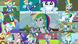 Size: 1280x720 | Tagged: safe, edit, edited screencap, editor:quoterific, screencap, applejack, fluttershy, rainbow dash, sci-twi, twilight sparkle, a photo booth story, eqg summertime shorts, equestria girls, equestria girls (movie), equestria girls series, fluttershy's butterflies, friendship games, happily ever after party, i'm on a yacht, leaping off the page, movie magic, rainbow rocks, run to break free, sic skateboard, spring breakdown, sunset's backstage pass!, the last day of school, spoiler:eqg series (season 2), spoiler:eqg specials, ^^, all good (song), chs rally song, clothes, crossed arms, cute, cutie mark, cutie mark on clothes, dashabetes, eyes closed, fall formal outfits, female, fluttershy's butterflies: rainbow dash, football, geode of super speed, grin, happily ever after party: rainbow dash, helmet, hoodie, jewelry, magical geodes, male, necklace, open mouth, ponied up, smiling, solo, sports, thumbs up, wings
