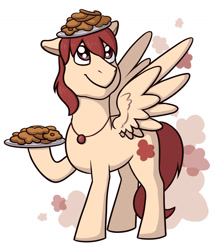 Size: 1280x1490 | Tagged: safe, artist:verikoira, oc, oc only, pegasus, pony, cookie, food, platter