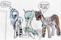Size: 3295x2157 | Tagged: safe, artist:beamybutt, oc, oc only, alicorn, pony, alicorn oc, horn, jewelry, necklace, sitting, thought bubble, traditional art, wings