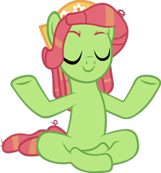 Size: 4276x4582 | Tagged: safe, artist:ironm17, tree hugger, earth pony, pony, a rockhoof and a hard place, absurd resolution, eyes closed, female, mare, meditating, meditation, simple background, solo, transparent background, vector, yoga