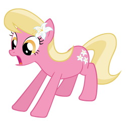 Size: 4000x4000 | Tagged: safe, artist:misterlolrus, lily, lily valley, earth pony, pony, absurd resolution, background pony, female, flower, flower in hair, lily (flower), mare, simple background, solo, transparent background, vector