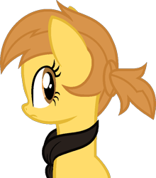 Size: 632x719 | Tagged: safe, artist:pegasski, oc, oc:anna autumn, earth pony, pony, bust, clothes, female, mare, portrait, scarf, simple background, solo, transparent background