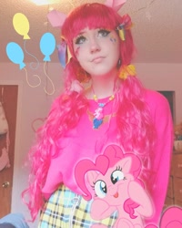 Size: 1080x1350 | Tagged: safe, artist:synubus, pinkie pie, earth pony, human, clothes, cosplay, costume, female, irl, irl human, mare, photo