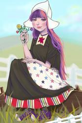 Size: 564x846 | Tagged: safe, artist:aiyano05, twilight sparkle, alicorn, human, equestria girls, clothes, dutch, dutch cap, hat, humanized, long dress, long skirt, skirt, solo, twilight sparkle (alicorn)