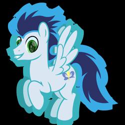 Size: 2200x2200 | Tagged: safe, artist:ponkus, soarin', pegasus, pony, flying, male, solo, stallion