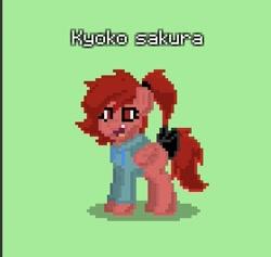 Size: 559x529 | Tagged: safe, pegasus, pony, pony town, crossover, female, kyoko sakura, magical girl, mare, ponified, puella magi madoka magica, solo