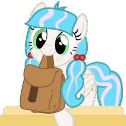 Size: 4500x4500 | Tagged: safe, artist:duskyzombie, oc, oc:sugar stamp, pegasus, pony, to where and back again, absurd resolution, bag, cute, elements of justice, female, mare, mouth hold, simple background, smiling, solo, to saddlebags and back again, transparent background, turnabout storm, vector
