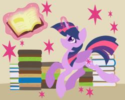 Size: 2500x2000   Tagged: safe, artist:hellishnya, twilight sparkle, alicorn, pony, book, female, lineless, magic, mare, twilight sparkle (alicorn)