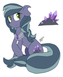 Size: 1200x1472 | Tagged: safe, artist:gallantserver, oc, oc:amethyst abacus, earth pony, pony, female, mare, simple background, solo, transparent background