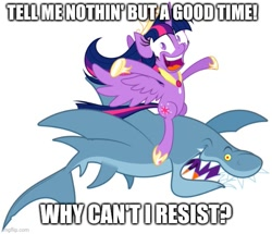 Size: 581x499 | Tagged: safe, twilight sparkle, alicorn, jumping the shark, meme, poison (band), song reference